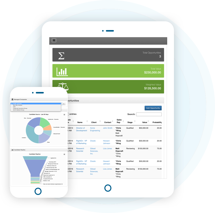 Mobile Responsive Applicant Tracking System